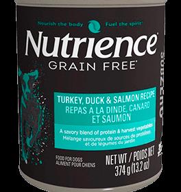 Nutrience Grain Free Húmedo Pavo Pato Salmón