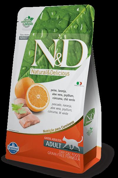 N&D Grain Free Gato Adulto Salmón y Naranja