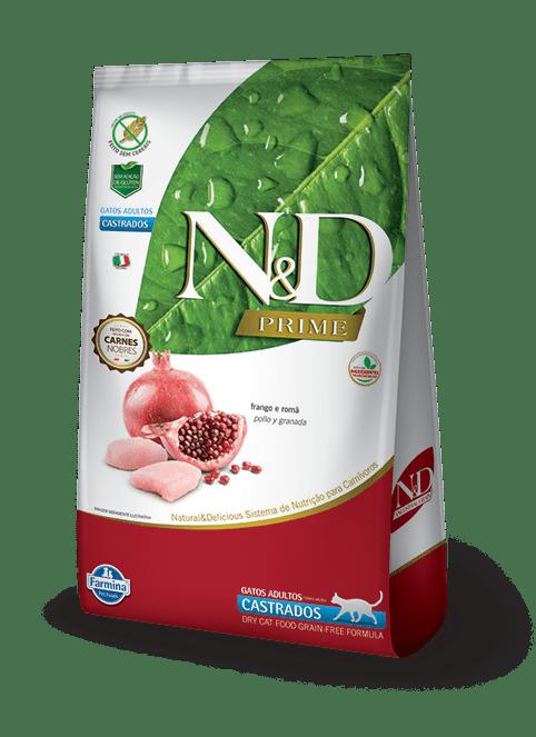 N&D Grain Free Gato Adulto Castrado Pollo y Granada