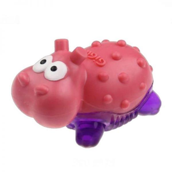 Gigwi Suppa Puppa Hipopótamo Morado Rosa Juguete Perro
