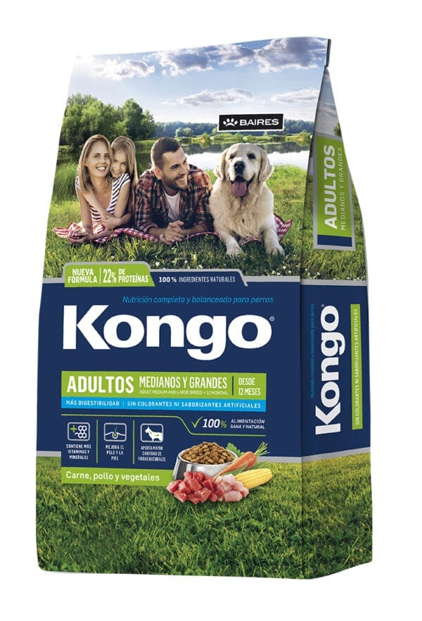 Kongo Perro Adulto Raza Mediana y Grande